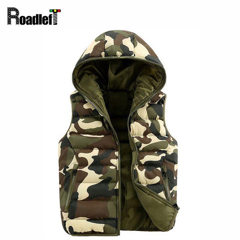 Mens & women Spring Autumn clothing fashion casual vest Men camouflage vests Men Down sleeveless jacket waistcoat