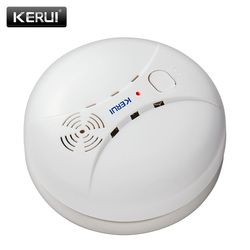 KERUI GS04 433MHz Wireless Smoke Detector Fire Sensor For G18 W18 GSM WiFi Security Home alarm system Auto Dial alarm Systems