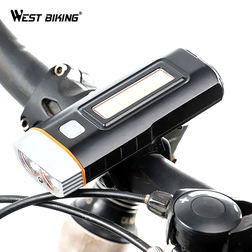 WEST BIKING Cycling Light Waterproof Multi-function XPG R5 Front Light USB Charging <font><b>Lamp</b></font> Bike Headlight Power Bank Bicycle Light