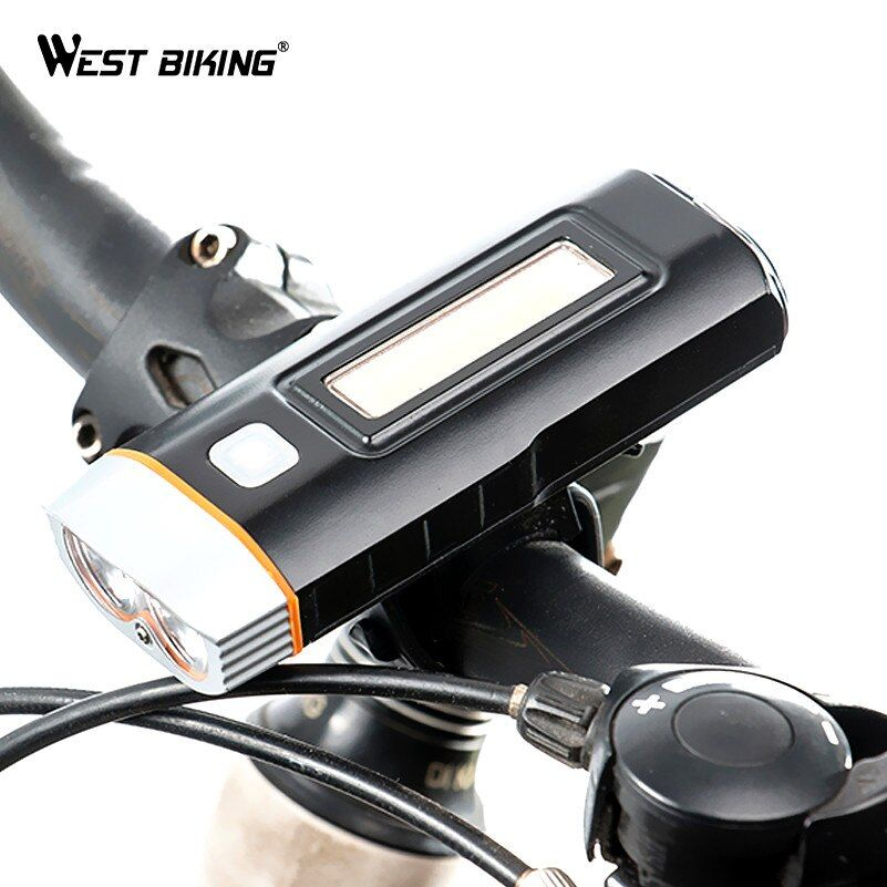 WEST BIKING Cycling Light Waterproof Multi-function XPG R5 Front Light USB Charging Lamp Bike Headlight Power Bank Bicycle Light