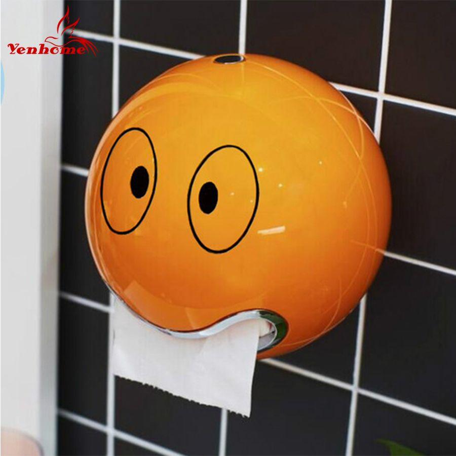 ABS plastique porte-papier hygiénique salle de bain porte-rouleau de papier une variété de couleurs Creative rouleau boîte à mouchoirs livraison gratuite ZWJ-005