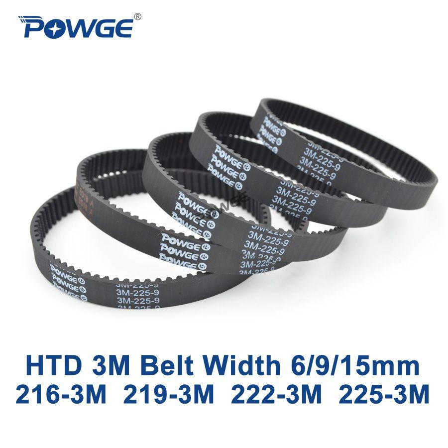 POWGE Arc HTD 3 Mt zahnriemen C = 216 219 222 225 breite 6/9/15mm Zähne 72 73 74 75 HTD3M synchron 216-3 Mt 219-3 Mt 222-3 Mt 225-3 Mt