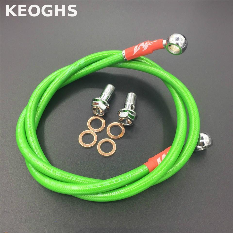 KEOGHS tuyau de frein de moto hydraulique renforcé frein ou embrayage tuyau de ligne de tuyau d'huile Fit Atv Dirt Pit tube de vélo tresse en acier