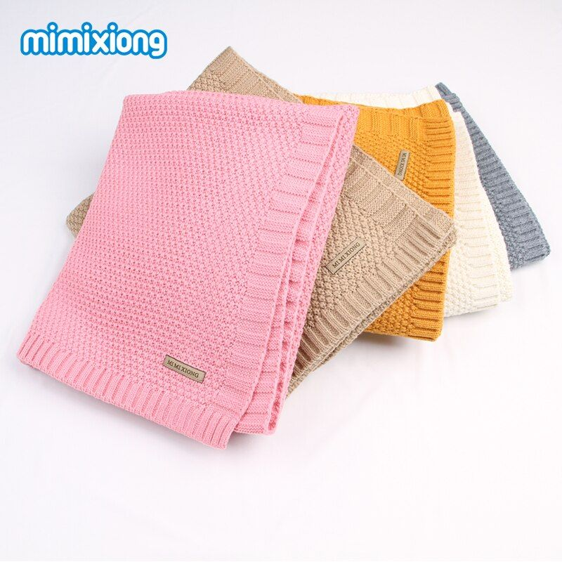 Newborn Baby Swaddle Wrap Blanket Winter Warm Knitted Child Boys <font><b>Cellular</b></font> Throwing Blankets Fall Crochet Muslin Blanket Toddler