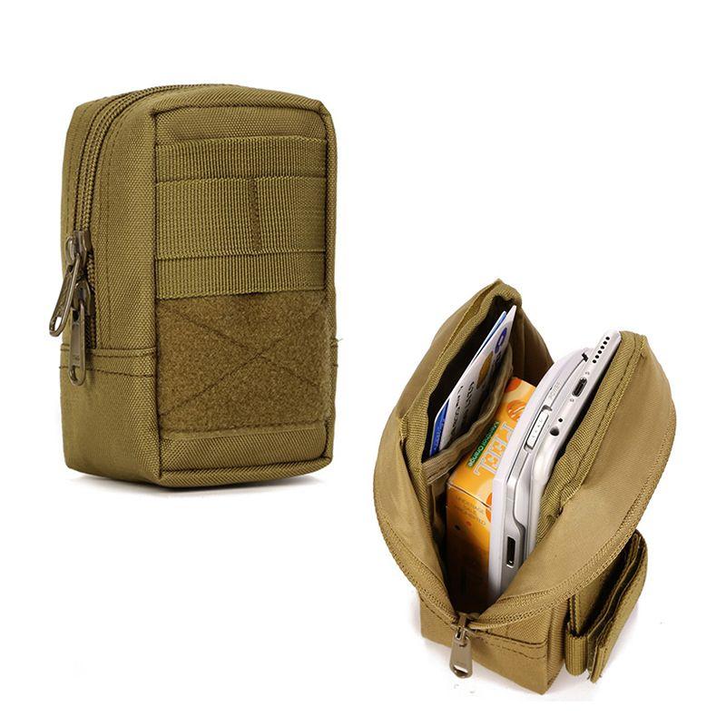 Protector Plus Military Tactical MOLLE Phone Pouch EDC Waist Belt Bag Pack Gear Messenger Shoulder Saddlebag Outdoor Travel FS
