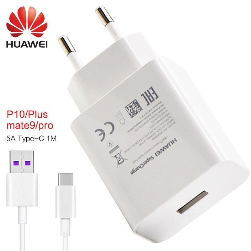 Huawei P9 compagnon 9 Pro P10 plus rapide chargeur UE/ÉTATS-UNIS/ROYAUME-UNI 5 v 4.5a & 4.5 v 5a adaptateur USB rapide chargeur type-c câble 1 m P 9 mate9 mate10