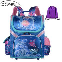 GCWHFL для девочек школьные рюкзаки детские школьные сумки Ортопедические Рюкзак Кот мини сумка для дисков для девочки; дети ранец, рюкзак Mochila