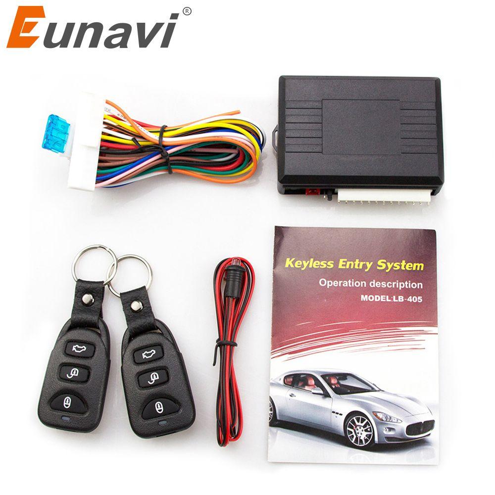 Eunavi универсальный автомобильный сигнал Системы S Auto удаленному центральному комплект дверные замки Автозапуск Системы центральный замок с...