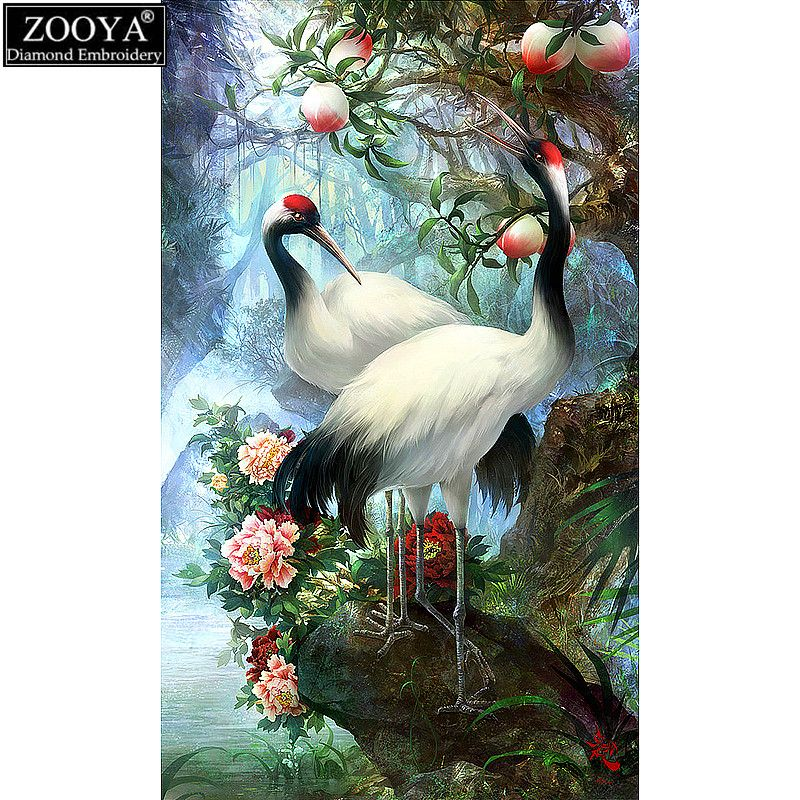 ZOOYA 5D DIY diamond embroidery Lovers Birds Pictures diamond painting Cross Stitch full square Rhinestone mosaic decoration ZS