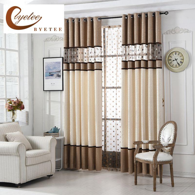 [Byetee] Haute Qualité De Luxe Rideau Pour Chambre Cuisine Rideaux Pour Salon Moderne Cortinas Tissu Fenêtre Cordes Rideaux