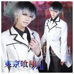 COSPLAYONSEN Tokyo Ghoul Kaneki Ken Haise Sasaki Cosplay Costume Mantel Panjang HANYA Warna Putih