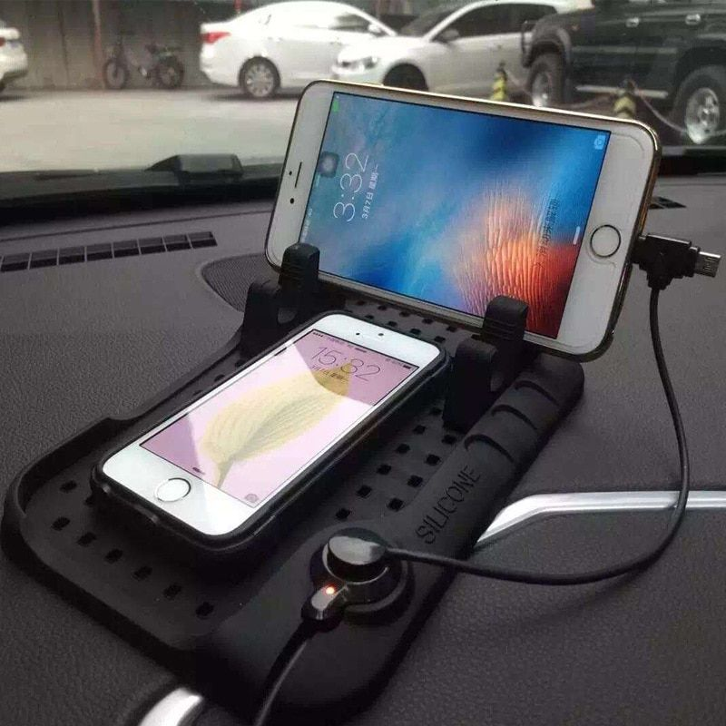 CHIZIYO New Design Multi-functional Magnetic Charge Of Silicone Anti-Slip Mat Car Navigation Mobile Phone USB Charger