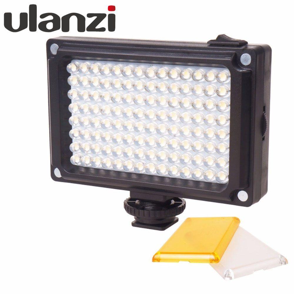 Ulanzi 112 LED <font><b>Dimmable</b></font> Video Light Rechargable Panal Light (White & Warm Light) for DSLR Camera Videolight Wedding Recording