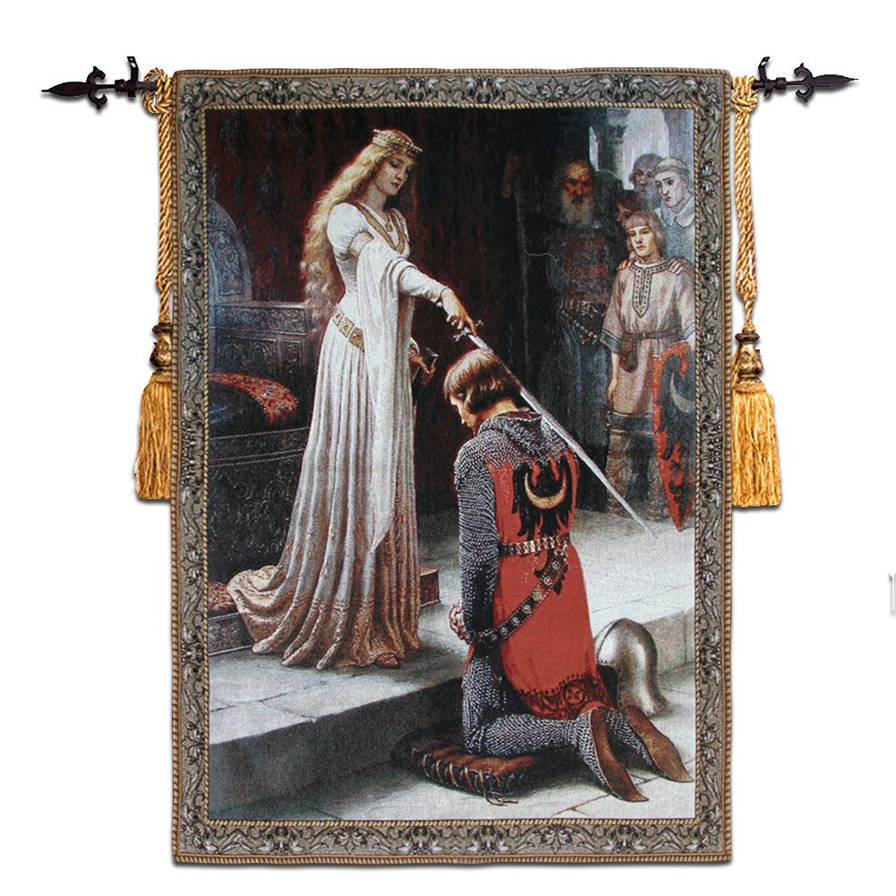 98x140cm Wall Tapestry Gobelin Fabric Belgium Woven Hanging Wall Tapestries Cotton Medieval Moroccan Decor tapiz pared goblen