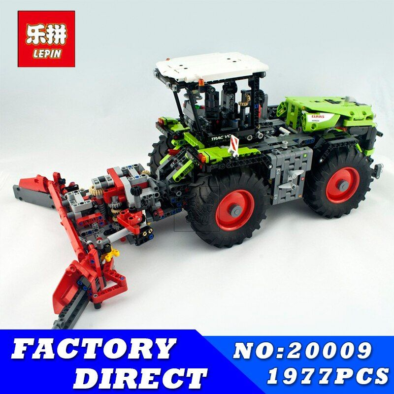 Lepin 20009 Technic Xerion 5000 Tractor Vc Model Building Blocks Electric Motor Power Functions boy' favorite birthday preson