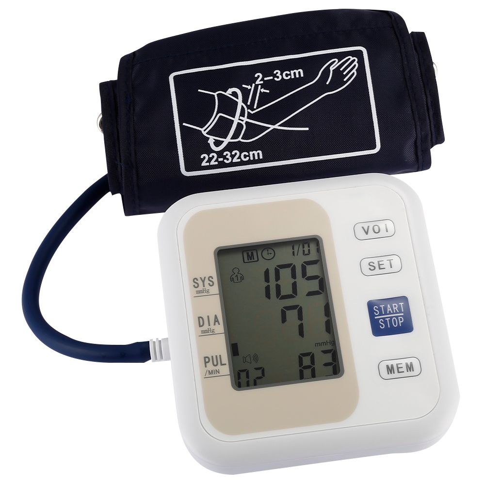 Professional Blood Pressure Monitor <font><b>Upper</b></font> Arm Style Electronic Blood Pressure LCD Display Systolic Diastolic Pulse Health Care