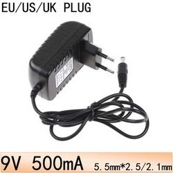US EU UK Plug AC 100 V-240 V à DC 9 V power Adapter 9 V/500mA (5.5mm * 2.5mm) 9 V Alimentation Convertisseur de Commutation adaptateurs Muraux