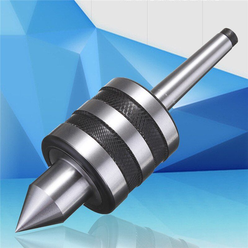 NEW MT1 Live Center Morse <font><b>Taper</b></font> MT1 Triple Bearing Lathe Shaft For CNC Cutter shaft Precision