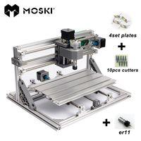 MOSKI CNC 2418 con ER11 mini cnc máquina de grabado láser Pcb fresado de la máquina máquina de talla de madera cnc router cnc2418 mejor regalo