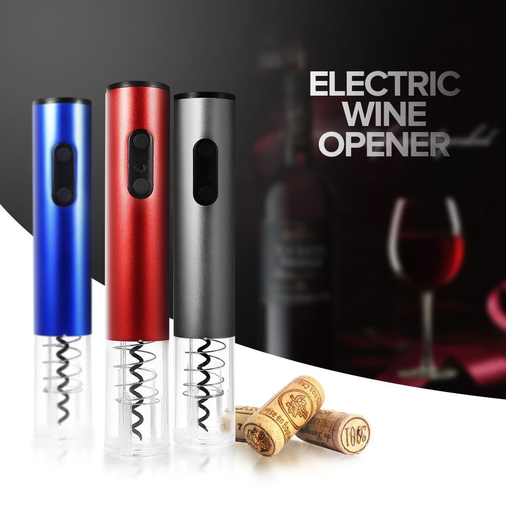 Original Electric Wine Opener Corkscrew Automatic Wine Bottle Opener <font><b>Kit</b></font> Cordless With Foil Cutter And Vacuum Stopper 2018 New