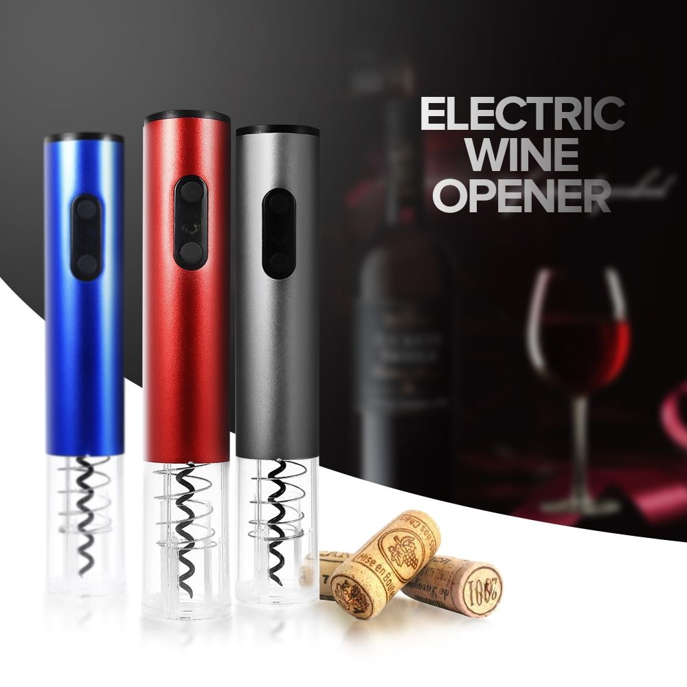 Original <font><b>Electric</b></font> Wine Opener Corkscrew Automatic Wine Bottle Opener Kit Cordless With Foil Cutter And Vacuum Stopper 2018 New