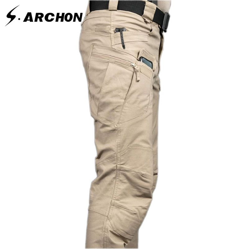 s.archon IX7 Outdoor Sports Camping Riding Hiking Tactical Pants Men Trousers For Men Four Seasons Multi-pocket Military Pants