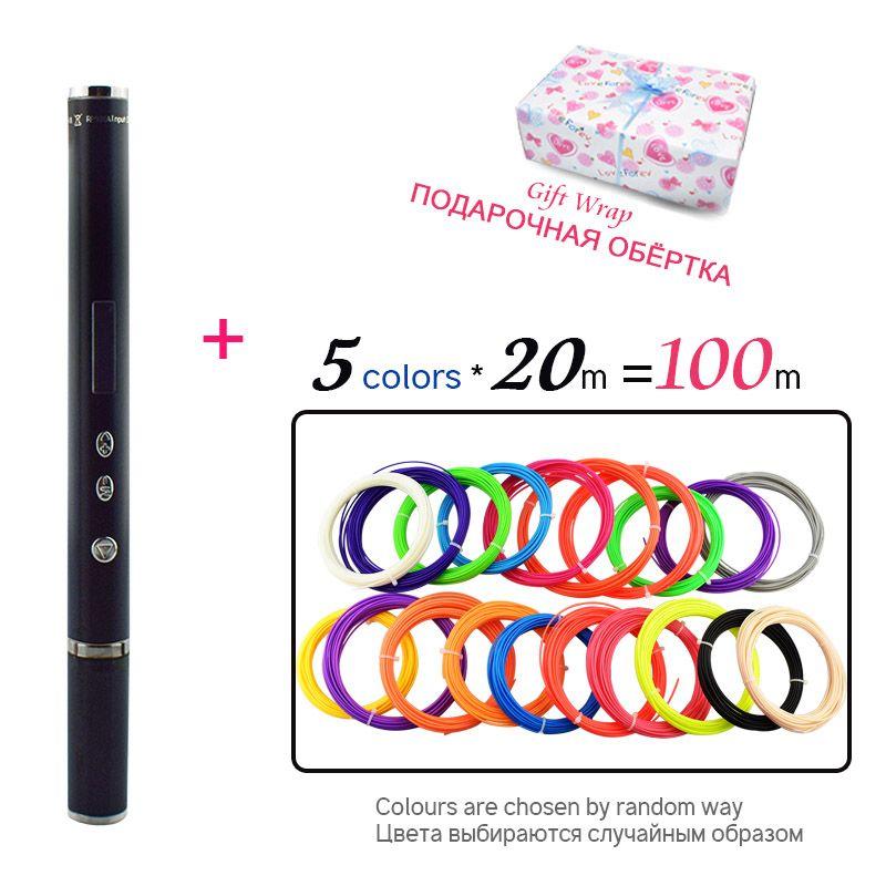 Weiyu 3D Pen Scribble Pen 100 m PLA ABS Filament 3D Printer Birthday Gift Lapiz 3D Printing Pen for School ABS 3D Pencil Gadget