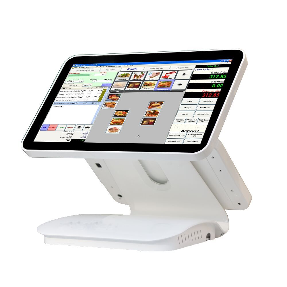 15.6 inch dual capacitive touch screen//touch pos all in one//pos terminal linux pos1519D