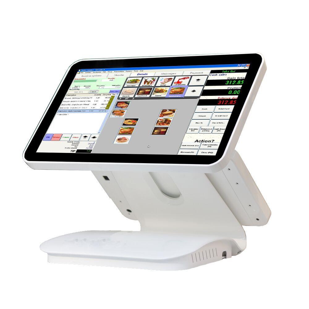 15,6 zoll dual kapazitiven touchscreen//touch pos alles in einem//pos-terminal linux pos1519D