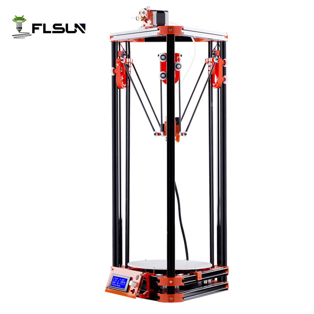 Large Printing Size Delta 3D Printer Auto Leveling 3D-Printer Pulley Version Linear Guide 3D Printer Printing Size 240*240*285