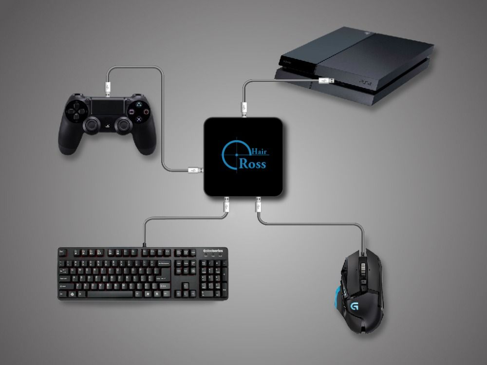 Reasnow CrossHair maus und tastatur Konverter Adapter für PS4/PS3/XBOXONE/XBOX 360/Schalter