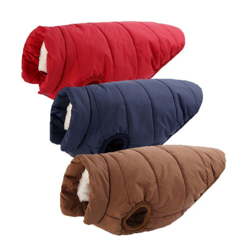 Pet Hiver Rembourré Manteau Chaud Veste Polaire Chiot et grand chien Chaud Chat Gilet Vêtements avec bouton taille XS à 3XL
