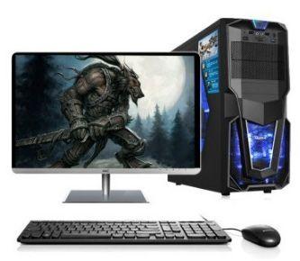 Gaming desktop Intel i3/i5/i7/2 GB/4 GB/8 gb ram 120 Gb/1 tb HDD mit 18,5 22 24 zoll monitor PC computer desktops