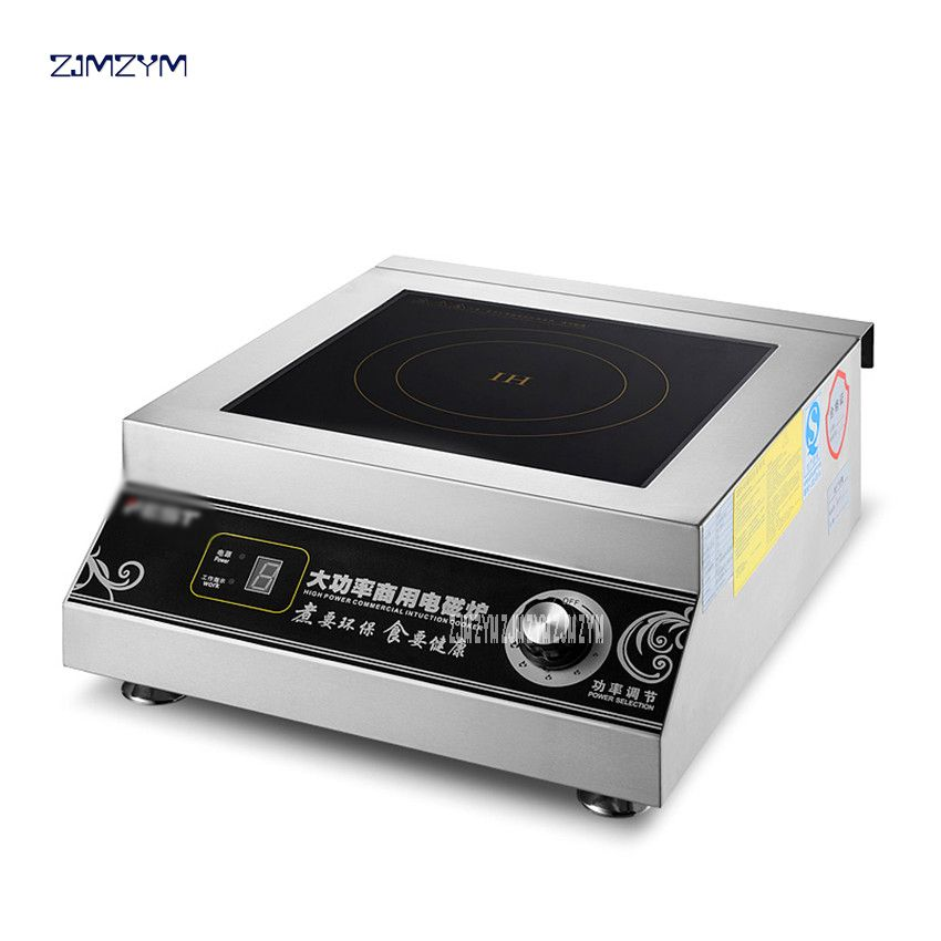 Commercial Induction cooker 5000W High power Electromagnetic oven Hotel Industrial furnace 6 Firepower Restaurant Cooker RC-5KWB