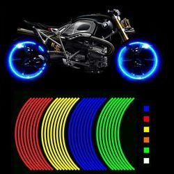 Compre Dos y Llévese otro Gratis! Cubo De La Rueda de la motocicleta Estilo Reflexivo Raya del Borde Decal Pegatinas de Seguridad Reflector Para YAMAHA HONDA SUZUKI