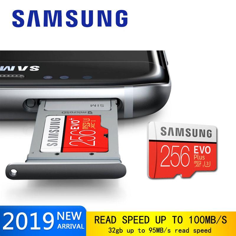 Samsung Original EVO Plus micro sd speicher karte 128 gb micro sd 256 gb 64 gb flash-speicher karte 32 gb Class10 micro sd TF-Karte