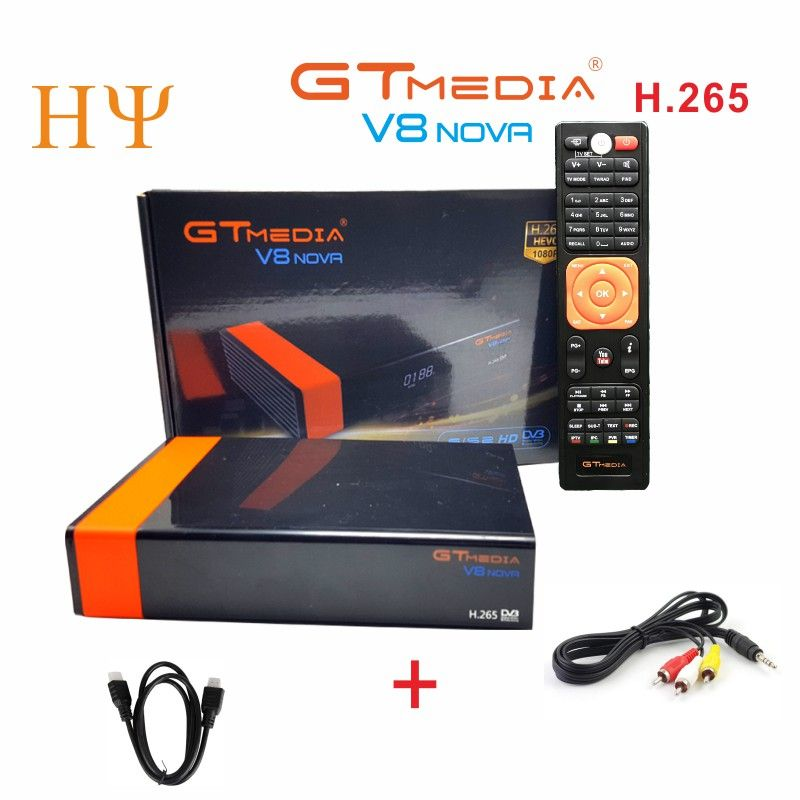 3PCS/Lot Gtmedia V8 NOVA DVB S2 satellite receiver Builtin wifi support H.265 better freesat V8 super V9 super set top box cccam