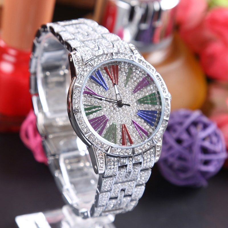 Colors Dial Fashion Women Watches Top Brand Luxury Diamond Gold Wrist Watch Women Waterproof 2017 fashion relogios masculino