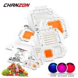 Высокая мощность светодиодный чип полный спектр светать лампа 1 Вт 3 Вт 5 Вт 10 Вт 20 Вт 30 Вт 50 Вт 100 Вт 380нм-840нм COB бусины для роста растений в поме...