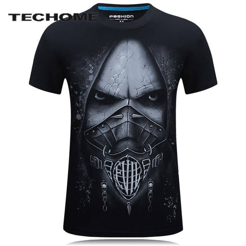 18 style S-6XL 3D T-shirt Mens Hot 2017 Summer Animal Angel Ugly Male Printed T-shirts Men Cotton Casual Brand Clothing T shirt