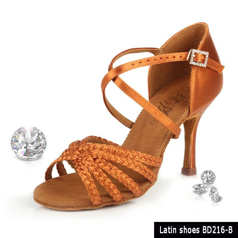 Chaussures de danse de salon femme baskets Salsa talons hauts chaussure fête sport adulte marron haute qualité fille danse Coupons BD 216b