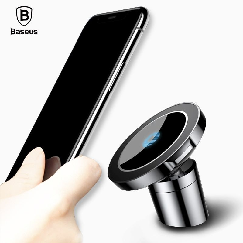 Baseus Magnetic Car Mount QI Wireless Charger For iPhone X 8 Samsung S8 S7 Fast Wireless Charging Charger Car Phone Stand Holder