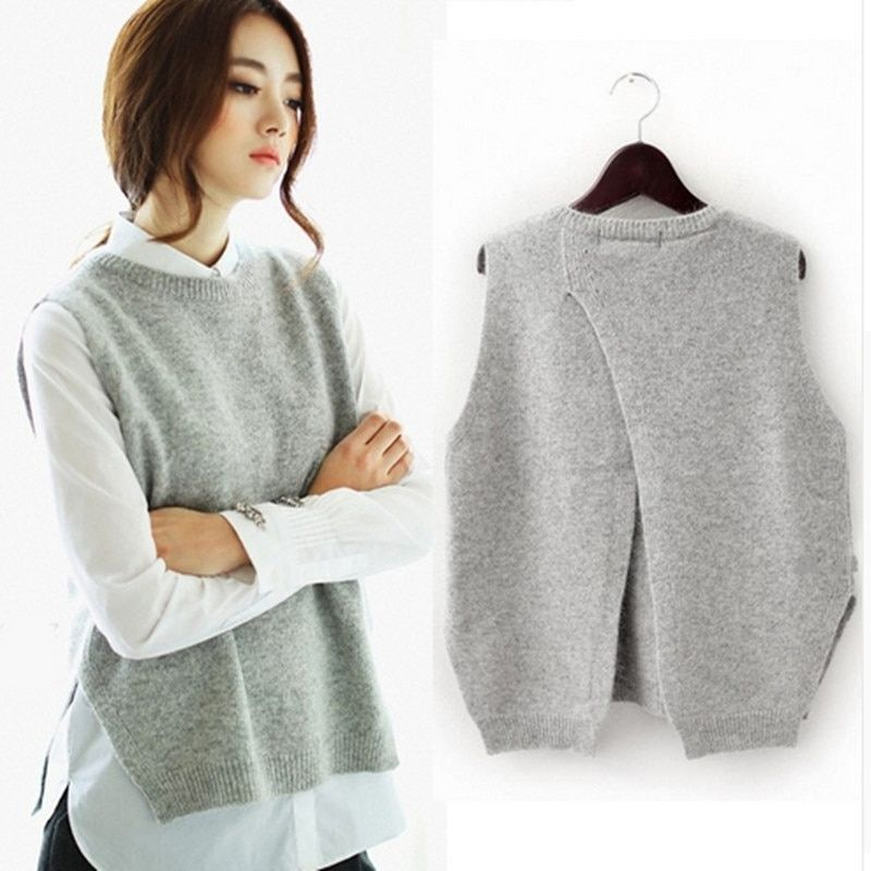 TAILOR SHEEP women vest waistcoat jacket women sweater loose vest o-neck pullover big yards wool vest female hedging