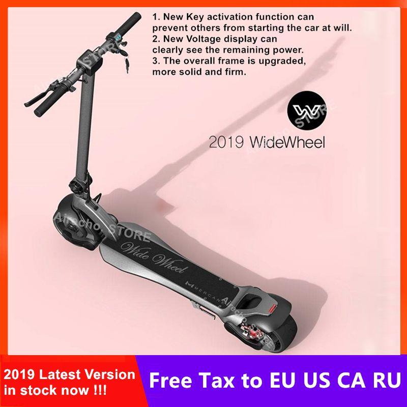 2019 neueste Mercane WideWheel Smart Elektrische Scooter Breite Rad 48 V 500 W/1000 W Kickscooter Dual Motor Leichte skateboard