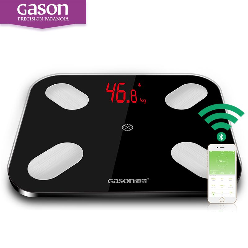 GASON S4 Body Fat <font><b>Scales</b></font> Floor Scientific Electronic LED Digital Weight Bathroom Household Balance Bluetooth APP Android or IOS
