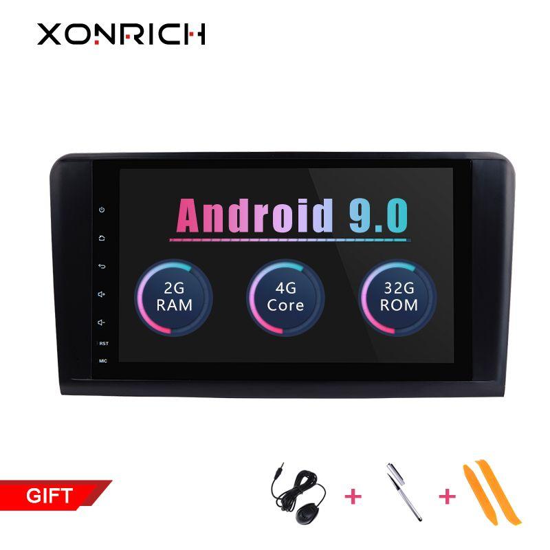 2 din Auto Radio GPS Android 9.0 NO-DVD Multimedia Player Für Mercedes Benz ML W164 ML300 GL X164 GL320 350 420 450 500 Navigation