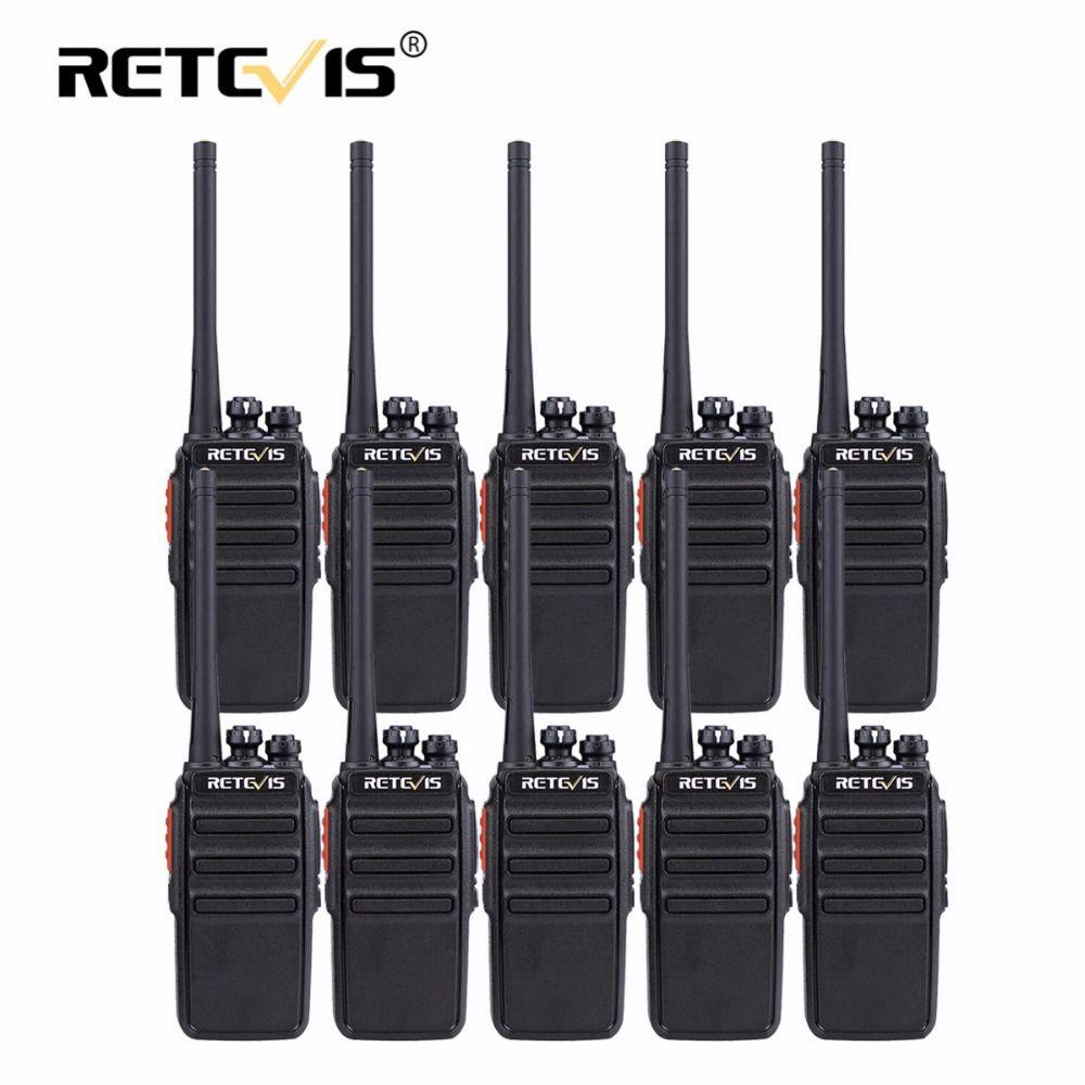 10 pcs Retevis RT24 PMR Walkie Talkie PMR446 Radio 0.5W 16CH UHF 446MHz Hf Transceiver Scrambler VOX Hotel/Restaurant/Hunting