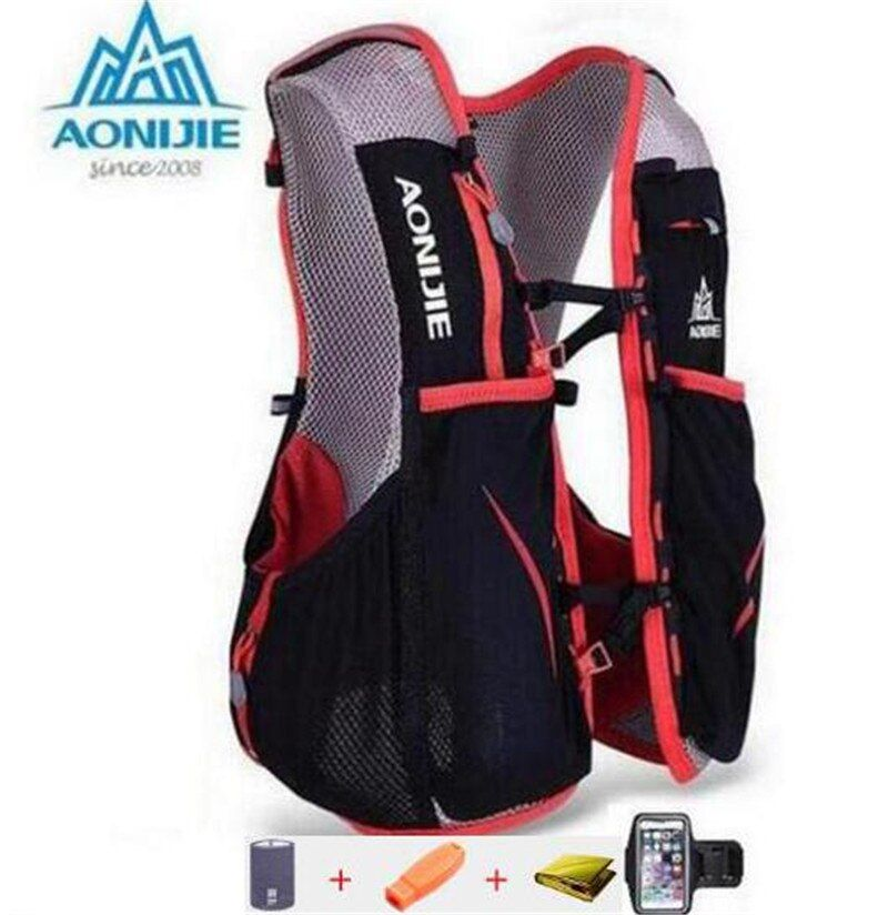 AONIJIE Sports Outdoor Vest Backpack 5L Running Backpack Kettle Package Marathon Cycling Bags Running Kettle Sport Bag