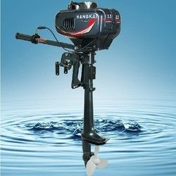 Promotion High Quality Cheap Chinese Hangkai 3.5HP outboard motor boat engine 2 stroke 2pcs 5% off
