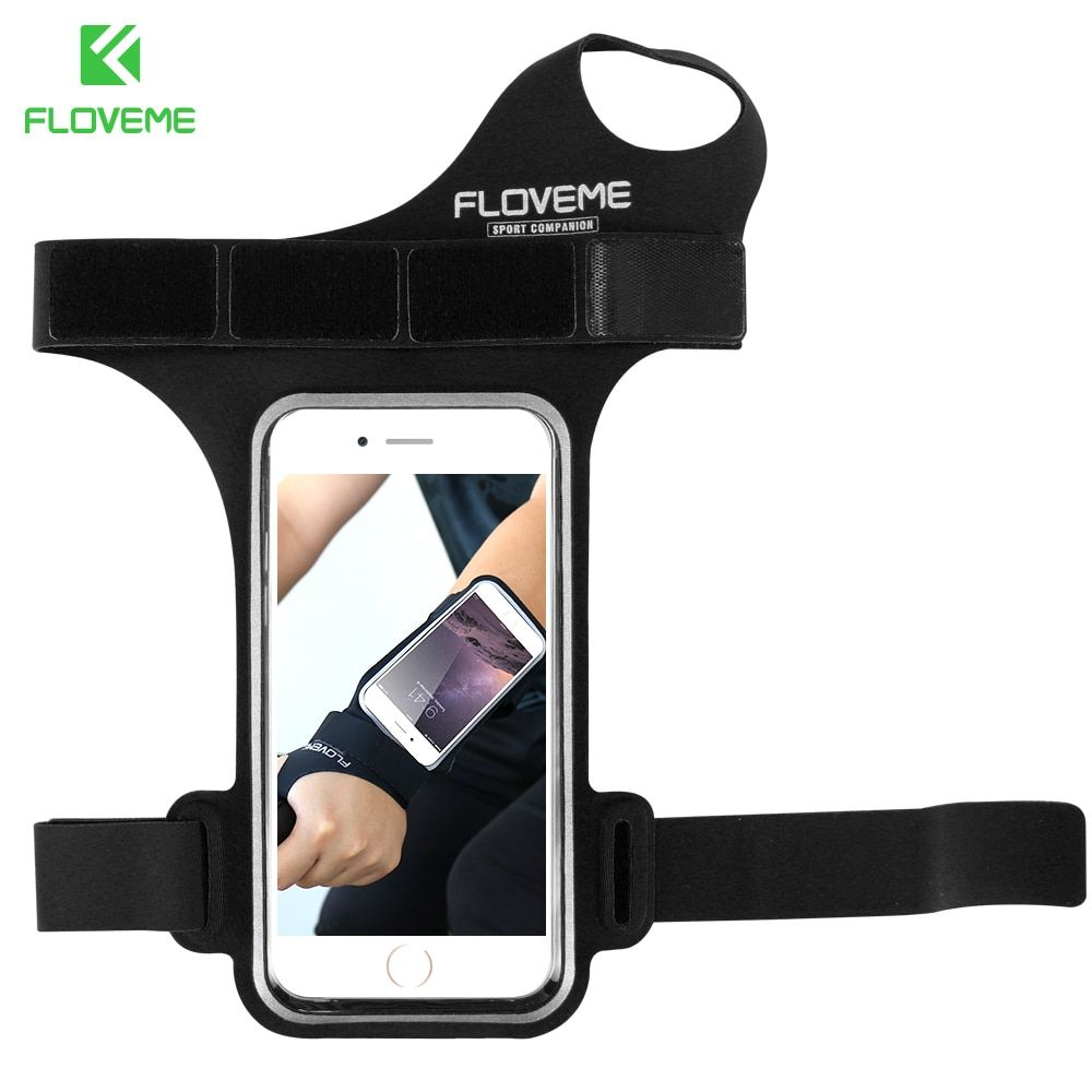 FLOVEME Waterproof Armband Phone Bag Universal For All 5.5 inch Mobile Phones For iPhone 7 Plus 8 Plus 6 6s Plus Ride Arm Band